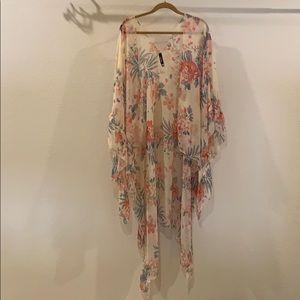 Torrid Floral Ruana Kimono - One Size